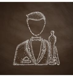 actor icon vector image