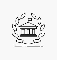 bank banking online university building education vector image