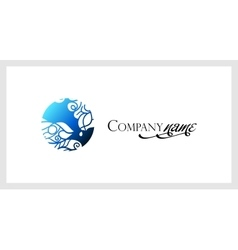 Beautiful mosaic lace logo in stamp style vector image