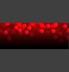 beautiful red bokeh banner with text space vector image
