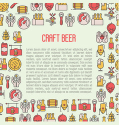 beer concept with thin line icons for brewery vector image