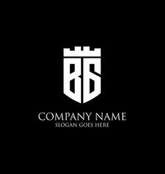 Bg initial shield logo design inspiration crown vector