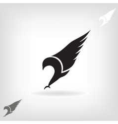 Black eagle with expanded wings vector image