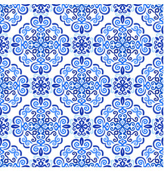 blue background abstract floral pattern vector image