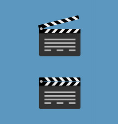 Cinema clapperboard icon flat style design vector