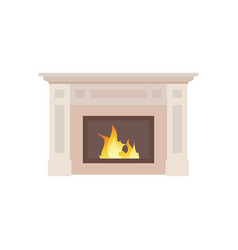 collection home different fireplaces to paste vector image