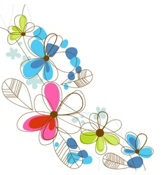 Colorful happy floral background vector image