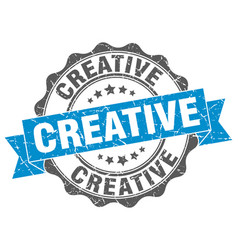 Creative stamp sign seal vector