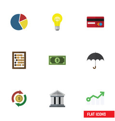 Flat icon finance set of interchange payment vector