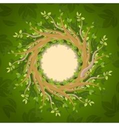Floral forest frame vector image