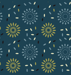 Galaxy explosion seamless pattern vector