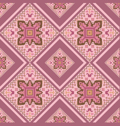 Geometrical ornament in hungarian style vector