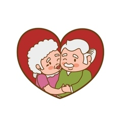Grandparents old person woman man icon vector