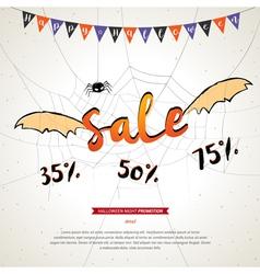 Halloween sale banner grunge background vector