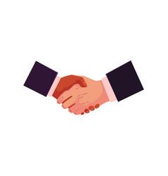 handshake hand shake deal partneship concept vector image