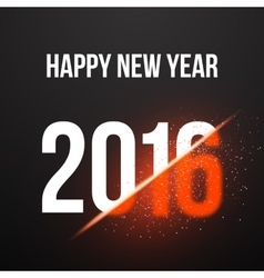 Happy New Year 2016 Explosion Poster Background vector
