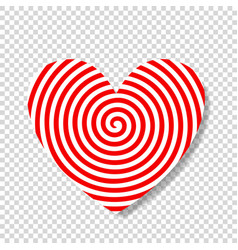 Hypnosis spiral in shape of heart vector