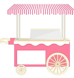 Ice cream pink cart vector