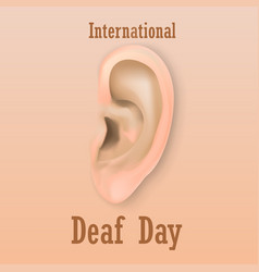International deaf day concept background vector