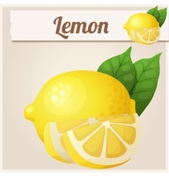 Lemon Cartoon icon vector