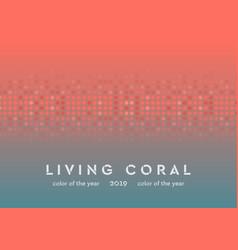 living coral shiny circle particles abstract vector image