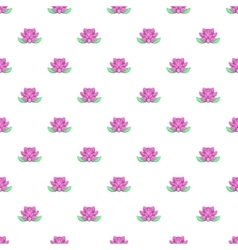 Lotus flower pattern cartoon style vector