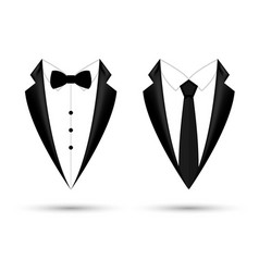 Man suit icon isolated background with bow and tie vector