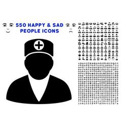 medic person icon with bonus vector image