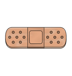 Medical bandage symbol vector