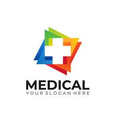 Medical logo template stock vector