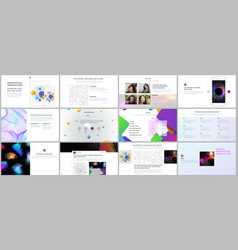 minimal presentation portfolio templates with vector image