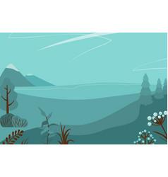 Monochrome landscape vector