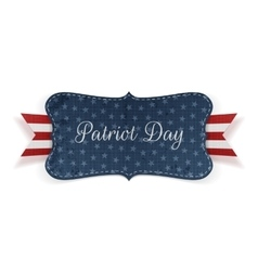 Patriot Day realistic Banner Template vector image