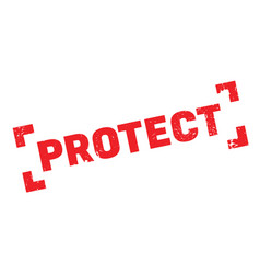 Protect rubber stamp vector