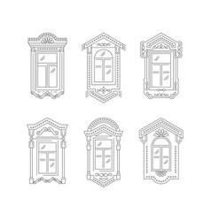 retro window icon window vintage frames isolated vector image