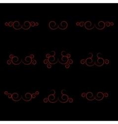Set curls vector image