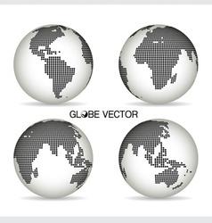 Set of modern Globe vector image
