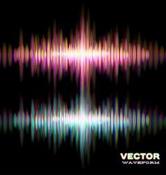 Shiny stereo sound waveform vector