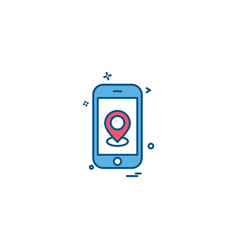 smart phone icon design vector image