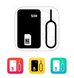 Standard SIM icon vector