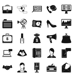 studio icons set simple style vector image