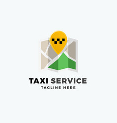 taxi service point abstract app icon sign vector image
