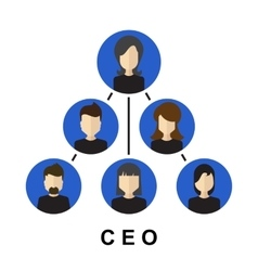 Team management ceo icon vector