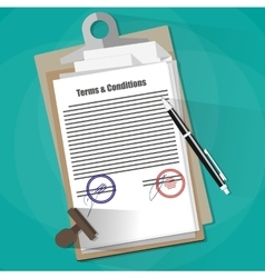 Terms and Conditions Legal Agreement vector image