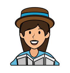 Tourist woman avatar character vector