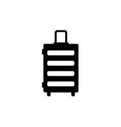 travel bag trip handbag flat icon vector image