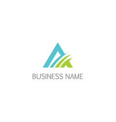 triangle initial business company logo vector image