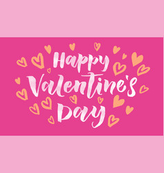 valentines day heart pattern greeting card vector image