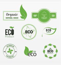 Variety environmental sticker set vector
