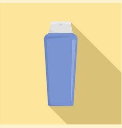 Violet cosmetic bottle icon flat style vector